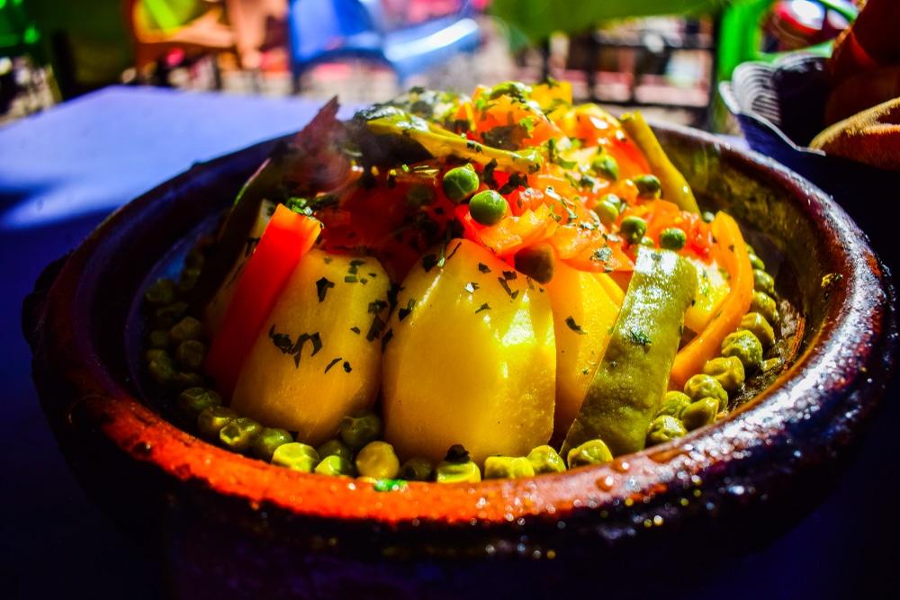 Jedzenie podczas wyjazdu do Marrakeszu.